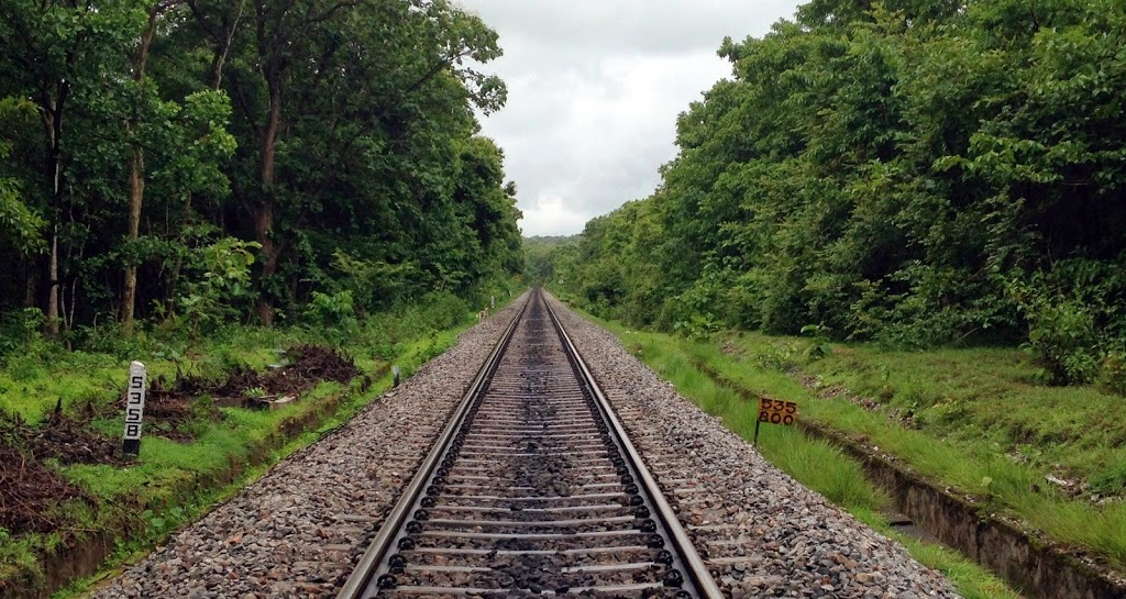 The railway track to Goa, the one we had trekked last year to Dudhsagar