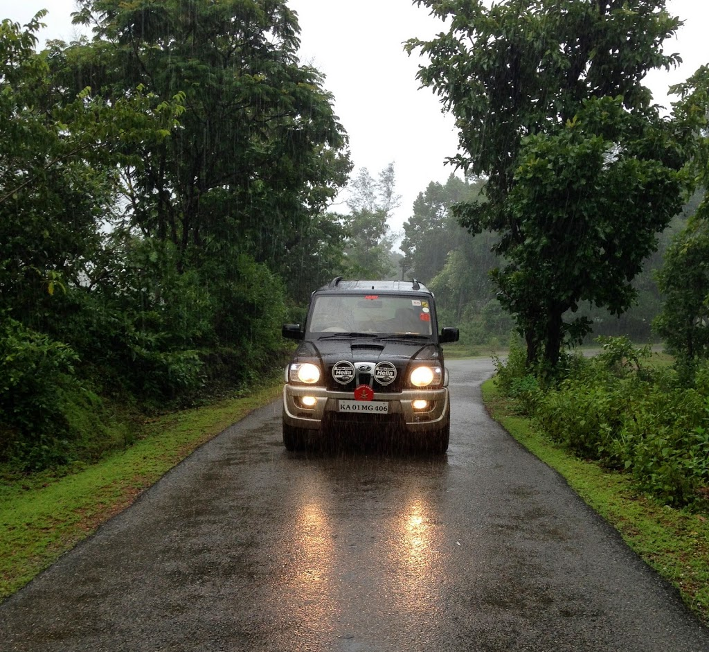 Soaked in rain. On the way to Unchalli falls, Sirsi