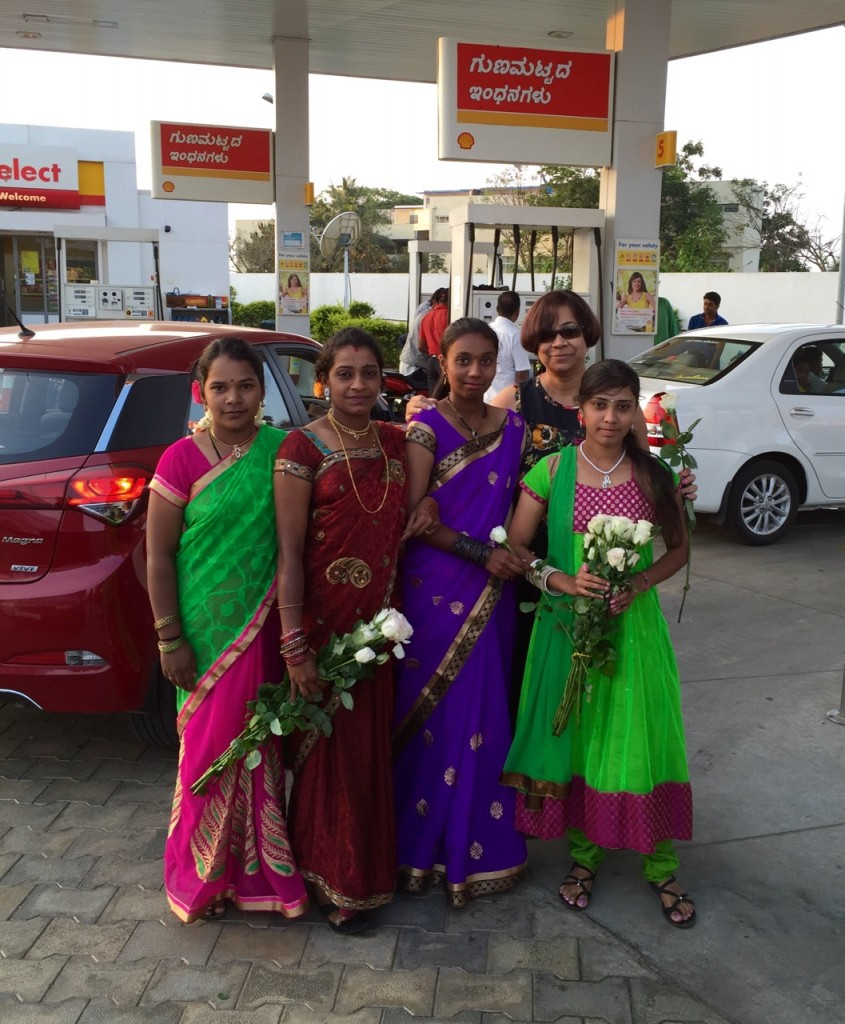 Women's day at shell petrol bunk, Bengaluru